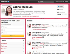 The LatinoMuseum Twitter Page